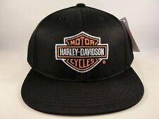 Kids Youth Size Harley Davidson Vintage Snapback Hat Cap Black