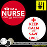 Nurses Save Lives SET OF 2 BUTTONS MAGNETS or POCKET MIRRORS doctor I'm a #1591