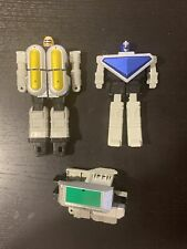 1996 Bandai Power Rangers Super Deluxe Zeo Megazord Blue Yellow & Green Part Lot