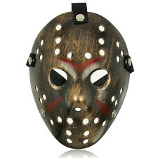 Hot Film Jason vs. Freddy Halloween Mask Vintage Hockey Style With Straps Adult