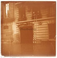 Paris Rue de l'Université Crue de la Seine de 1910 Plaque Stereo Positif Vintage