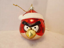 "Kurt Adler Glass Angry Birds "" Red ""  Ball Ornament"