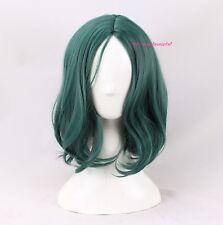 POLARIS Cos Peluca Verde Natural Ondulado Cosplay Peluca + un casquillo de la peluca