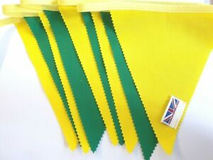 Norwich bunting colours ** 10 mtr ** Green and Yellow flags