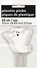12 Ghost Halloween Spooky Party Decoration Food Cupcake Sandwich Cake Toppers