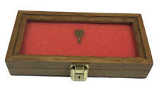 Oak Wood Display Case 5 X 10 X 2 For Arrowheads Knifes Collectibles Amp More