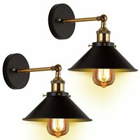 Retro Industrial Wall Lamp Metal Wall Mounted Fixtures Sconce Light Bar Decor