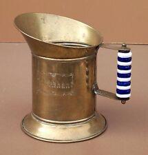 Ancien pichet pot à lait MELKKAN poignée PORCELAINE vintage cuivre milk pot jug