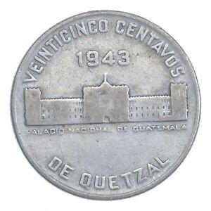 1943 Guatemala 25 Centavos *285