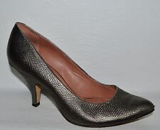 VINCE CAMUTO VICKIY 7.5 M METALLIC SILVER SNAKE PRINT LEATHER PUMPS HEELS SHOES