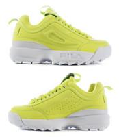Fila Disruptor II Premium Size 8.5 Women's Yellow White Platform Shoes NIB