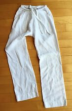 NWOT's Women's James Perse white casual linen drawstring pant Sz 1 pockets