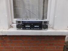 80s Sanyo M-W25L Stereo Twin Cassette Radio Tape Player  Ghetto Blaster BoomBox