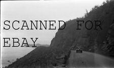 1930s Old Cars On Ocean Side Highway ORIGINAL PHOTO NEGATIVE
