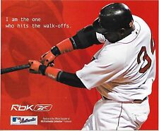DAVID ORTIZ #34 & MANNY RAMIREZ #24 BOSTON RED SOX REEBOK AD POSTCARD 2004