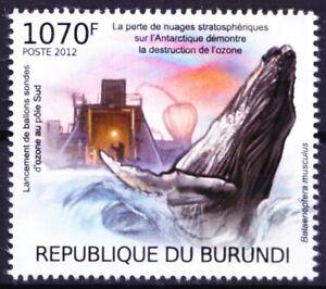 Blue Whale, Marine Life, Ozone Destruction, Burundi 2012 MNH