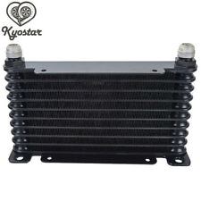 Universal AN10 32mm Oil Cooler 10 Row Racing Mount Engine Transmission Black New