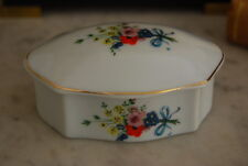 Nice Vintage Flower & Gold Work Decorated Schmidt Porcelain Table Cabinet Box