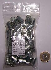 50 Stahl Blindnietmuttern M8 Mini Senkkopf gerändelt Einnietmutter Nietmutter