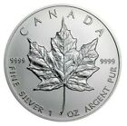 1999 1 Oz Silver $5 Canadian MAPLE LEAF Coin In Capsule.