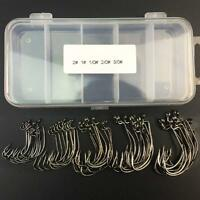 High Carbon Steel Fishing Circle Crank Hook With Sharpened Durabel Soft Bait Kit