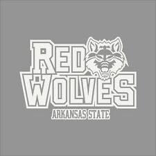 Arkansas State Red Wolves College Logo 1C Vinyl Decal Sticker Car Window Wall