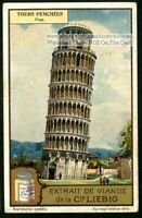 Leaning Tower Of Pisa Italy Italian Architecture 1920 Trade Ad Card