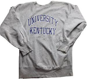 VTG 90s Champion Reverse Weave Kentucky Wildcats  Team SweatShirt sz XL gray