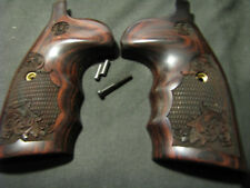 Smith Wesson K/L Frame Rosewood Grips Engrvd FG OS Round-Butt CONV. W/LaserLogo!