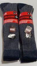 Wolverine Men's Merino Wool Blend Over-the-Calf Boot Socks, Large, 4 pr $27.99!