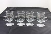 Edwardian (c.1890-c.1914) Very Rare 4 Eggnog Glasses