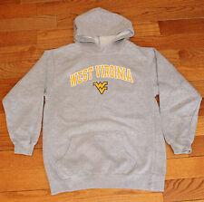 Youth WEST VIRGINIA MOUNTAINEERS Sweatshirt Boys Medium M 10/12 Gray Hoodie NCAA