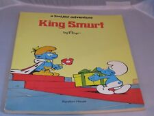 1977 Peyo King Smurf book - soft cover - comic strip style