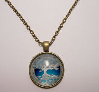 Tree of Life Design #4 Cabochon Pendant Necklace w/ Chain Unique Jewelry Gift