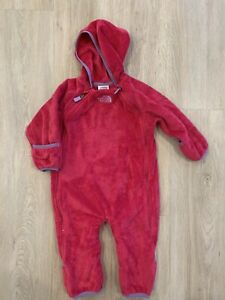 The North Face Infant One-Piece Fleece Bunting Pink Size 6-12Months