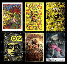 MARTIN SHARP Postcards Jimi Hendrix Explosion Max The Birdman Vincent Bob Dylan