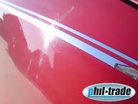 Doppel Zierstreifen 2 Linien Pin Stripe Dekorstreifen Auto 10m x 10mm Chrom
