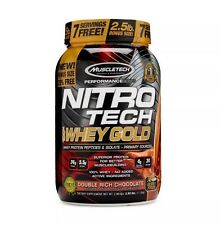 MuscleTech Nitro-Tech 100 Whey Protein Gold - Double Rich Chocolate 2.5 lbs.