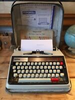 Vintage Brother Deluxe 1350 Portable Typewriter with Original Case