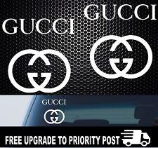2x Gucci Laptop tablet Windshield Car Sticker Decals