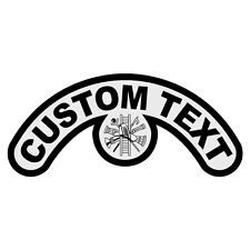 Any Title Color Custom Extended Helmet Crescent Reflective Decal with Symbol