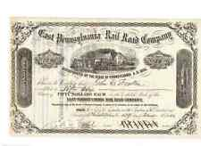 East Pennsylvania Railroad Company  1884