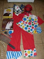 GOOD & WICKED EVIL CLOWN COSTUME LOT MASK WIG HAT HORN KNIFE HALLOWEEN NEW