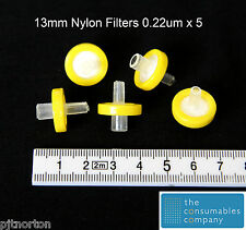 13mm Syringe Driven Filter 0.22µm Nylon Membrane x 5 Free Shipping