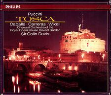 PUCCINI: TOSCA Montserrat Caballe Jose Carreras Wixell Ramey COLIN DAVIS PDO 2CD