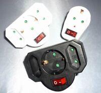 Zwischen Steckdose Zwischensteckdose mit Schalter Schuko Adapter Schutzkontakt
