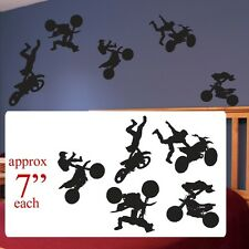 Motocross boys girls room decal, motocross silhouette fathead style stickers