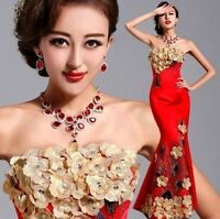 New Formal Wedding Prom Party Bridesmaid Evening Ball Gown Cheongsam Dress L064