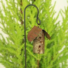 Tin Roof Birdhouse ~ Original Handmade ~ Woodland Bird House ~ Fairy Garden ~