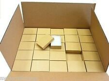 "100 COTTON FILLED JEWELRY BOXES (KRAFT) 3 1/4"" X 2 1/4"" X 1"" WHOLESALE"